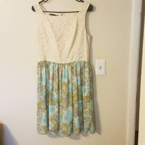 Maurices Ivory Lace and Chiffon Dress 9/10